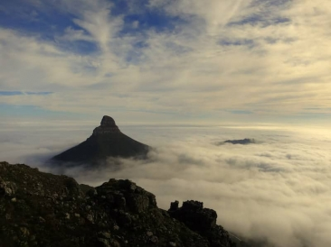 Lion's Head adrift in a sea of cloud