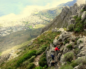 Scrambling high above Camps Bay